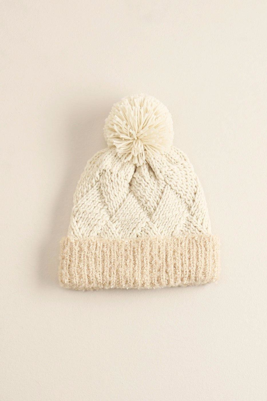 Look by M Chess Pompom Hat - Front Cropped Image