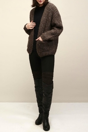 Look by M Cocoon Short Cardigan - Front cropped