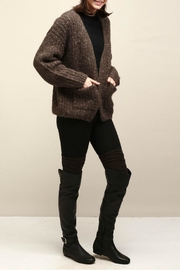 Look by M Cocoon Short Cardigan - Side cropped