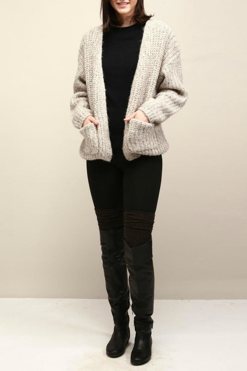 Look by M Cocoon Short Cardigan - Main Image