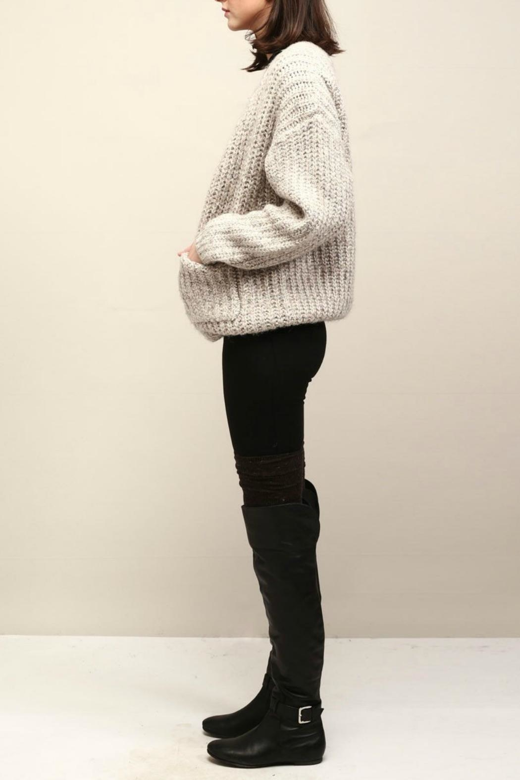 Look by M Cocoon Short Cardigan - Front Full Image