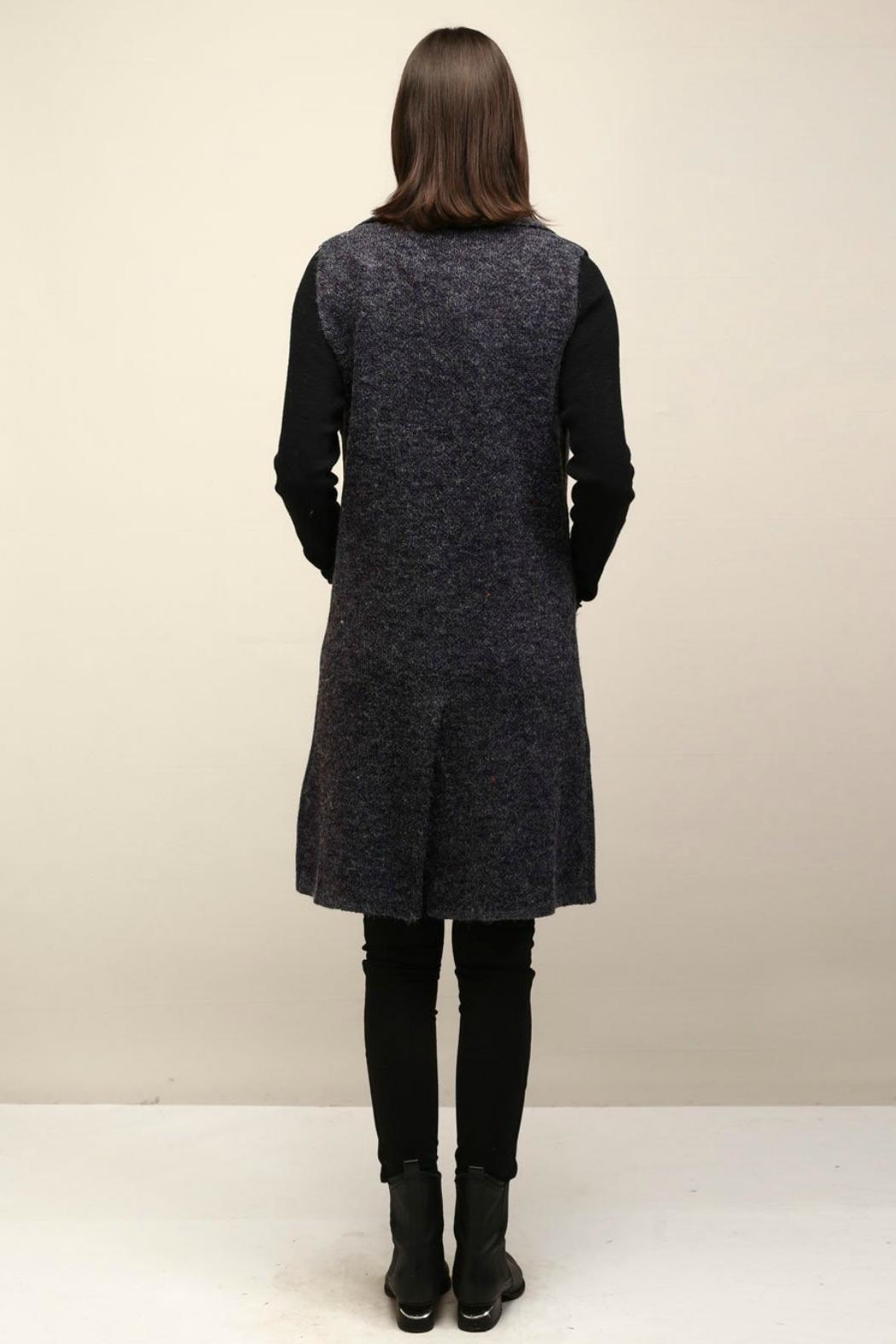 Look by M Collared Knit Vest - Side Cropped Image