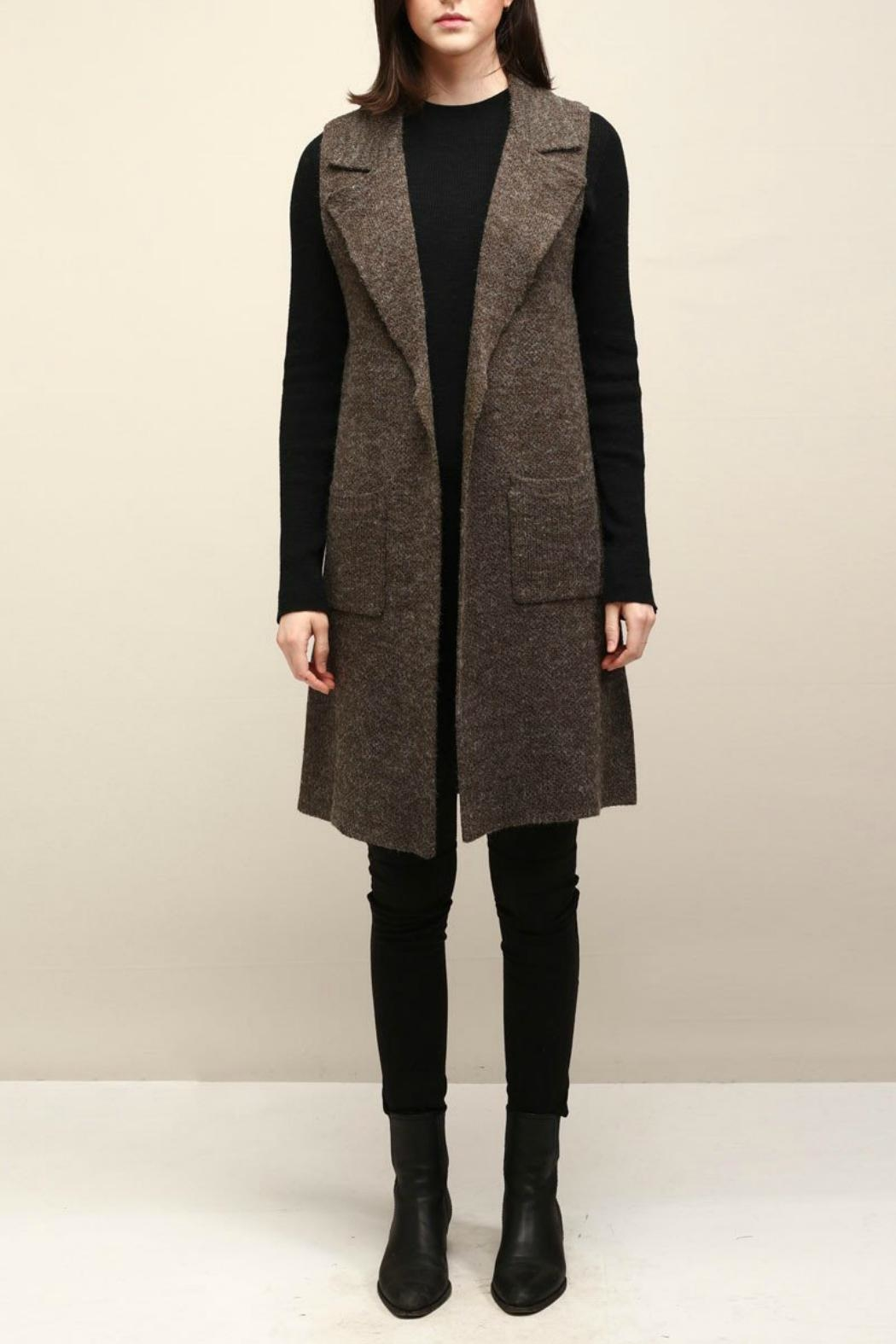 Look by M Collared Knit Vest - Main Image