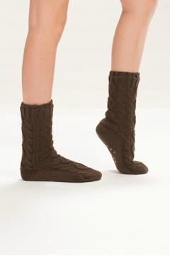 Shoptiques Product: Fleece Lined Slipper Socks