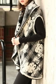 Look by M Floral Embossed Shawl/vest - Front full body