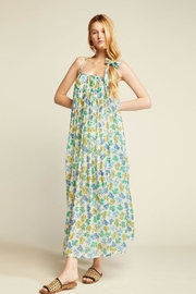 Look by M Green Flower Maxi Dress - Product Mini Image