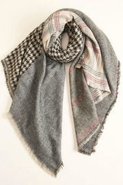 Look by M Houndstooth Checkered Scarf - Product Mini Image