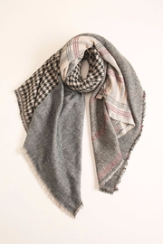 Look by M Houndstooth-Checkered Scarf - Front cropped