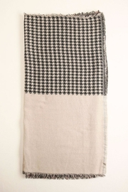 Look by M Houndstooth-Checkered Scarf - Front full body