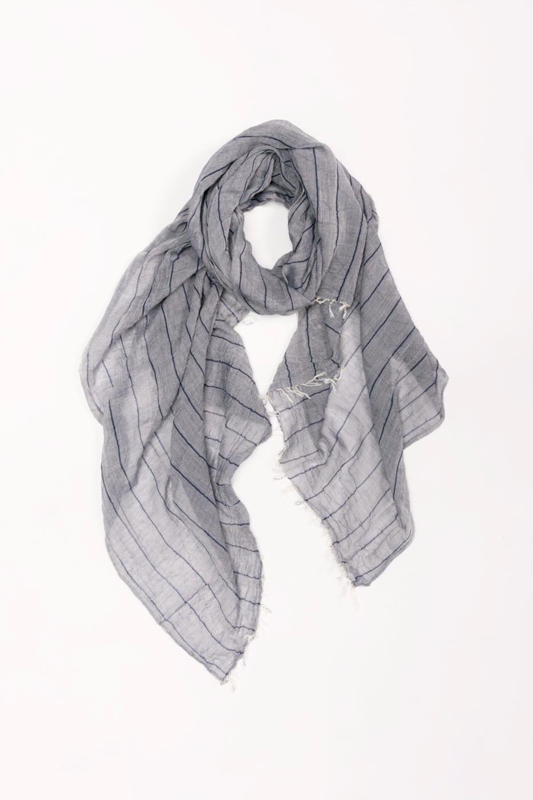 Look by M Long Striped Scarf - Main Image