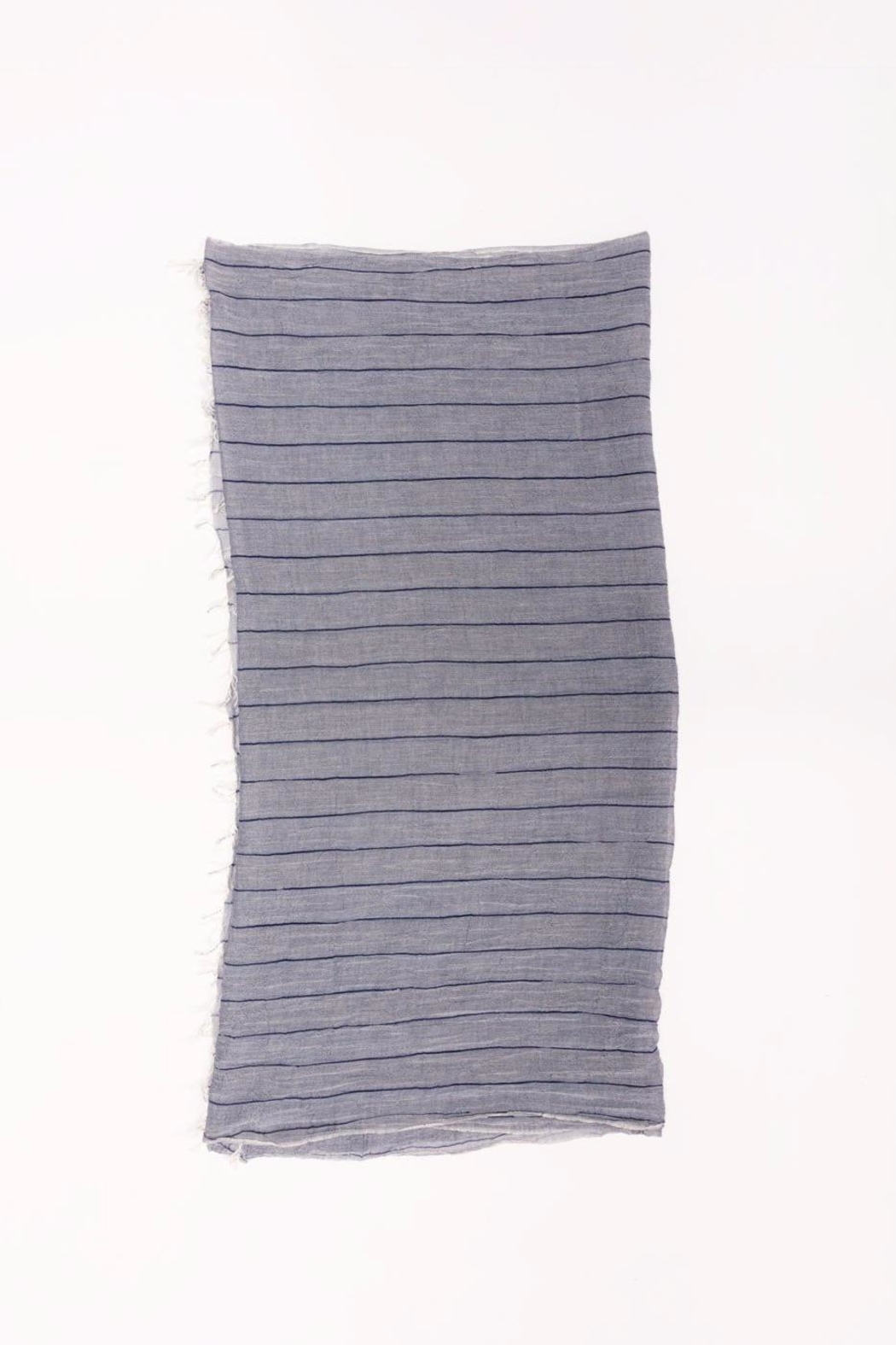 Look by M Long Striped Scarf - Front Full Image