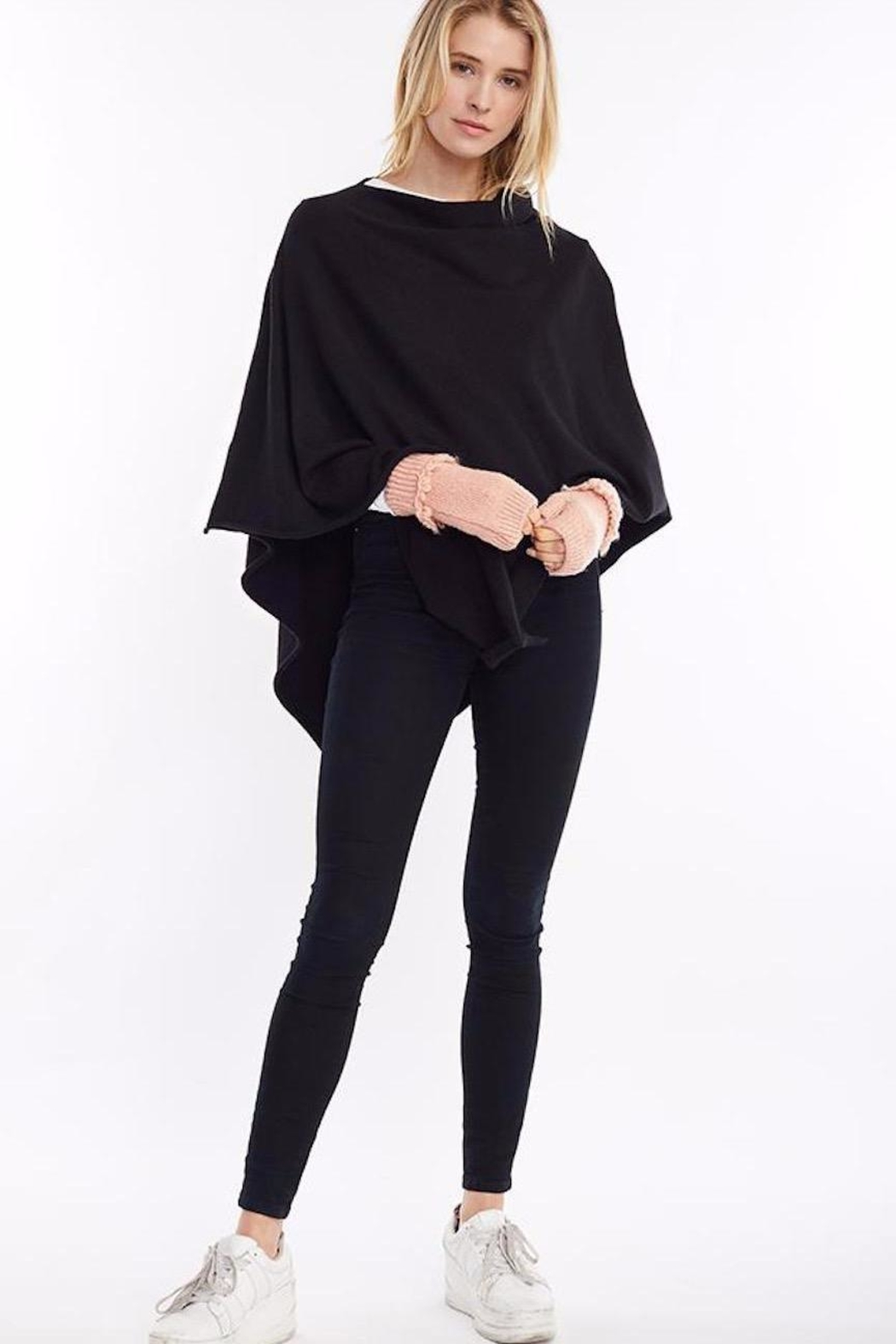 Look by M Merino Wool Poncho - Front Full Image
