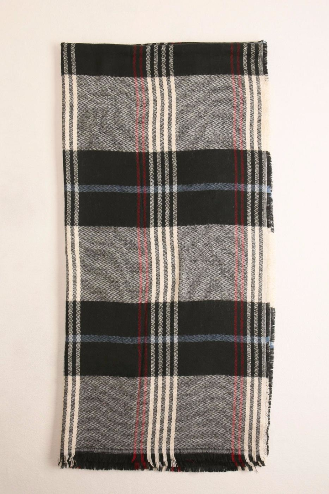 Look by M Plaid Scarf - Front Full Image