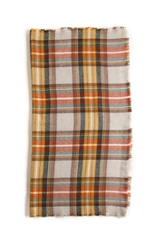 Look by M Plaid Scarf - Front full body