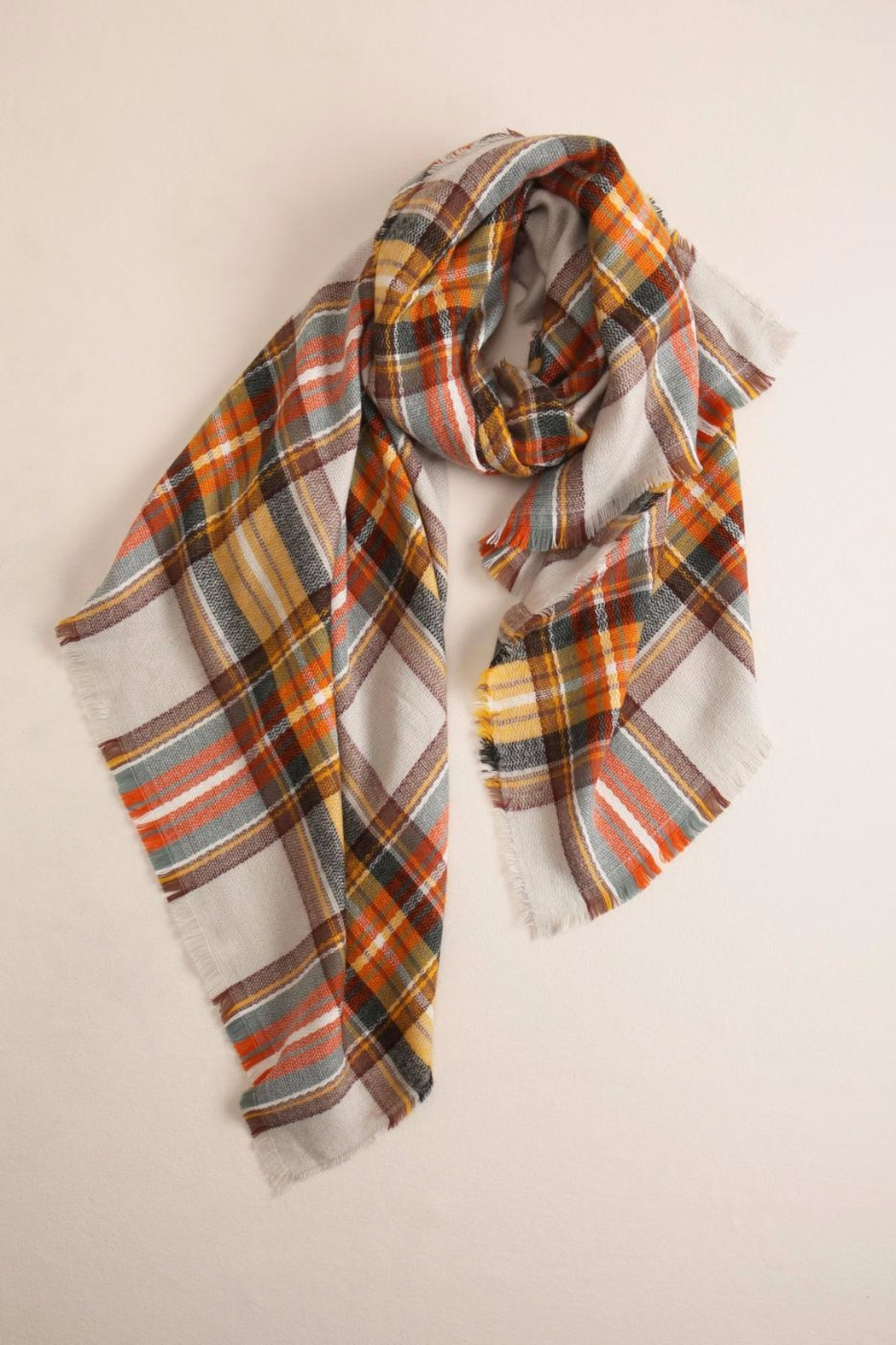 Look by M Plaid Scarf - Front Cropped Image
