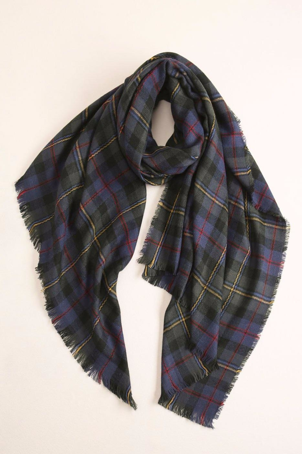 Look by M Plaid Wool Scarf - Main Image
