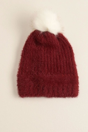 Look by M Fuzzy Pom Pom Hat - Product Mini Image