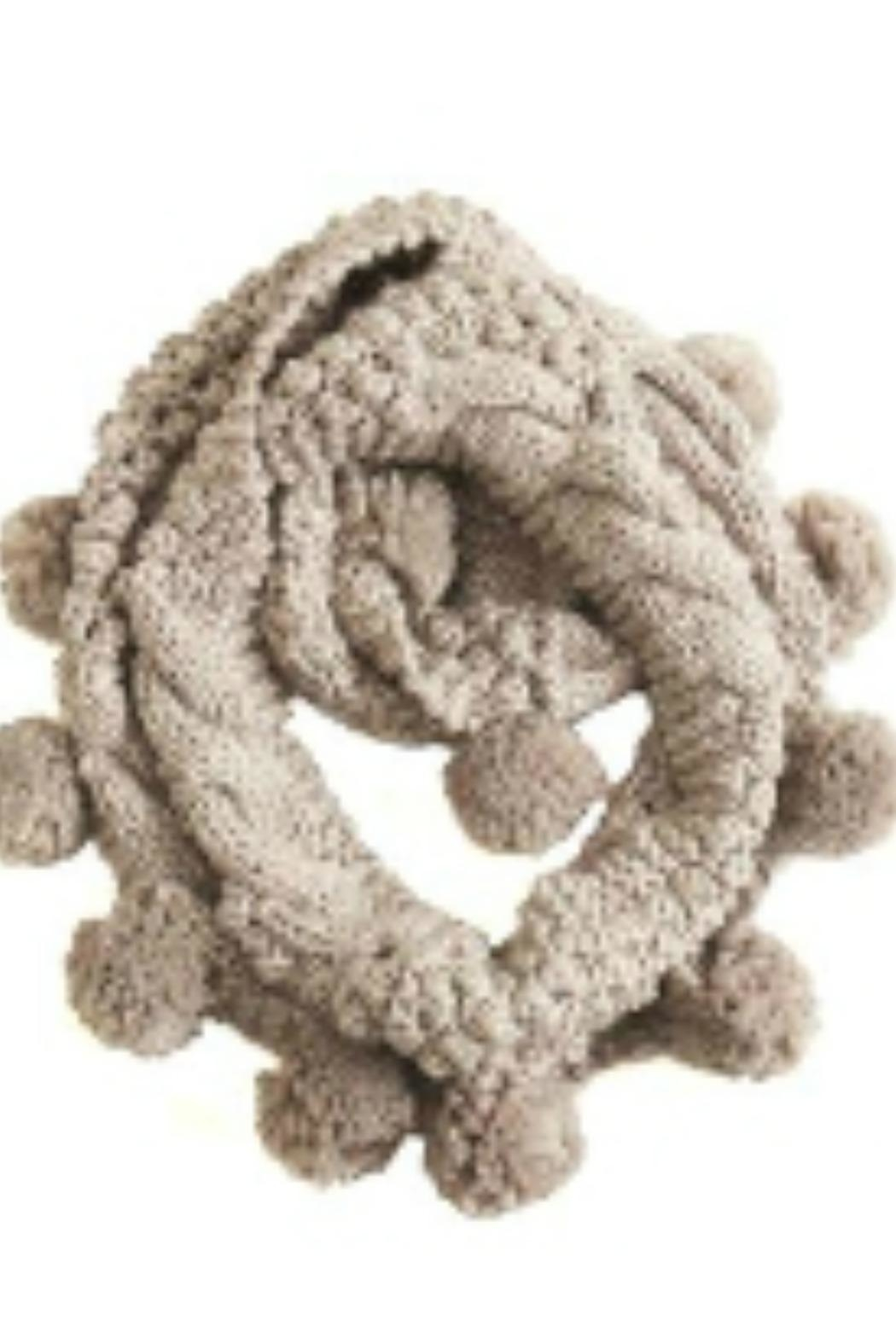 Look by M Pompom Infinity Scarf - Front Cropped Image