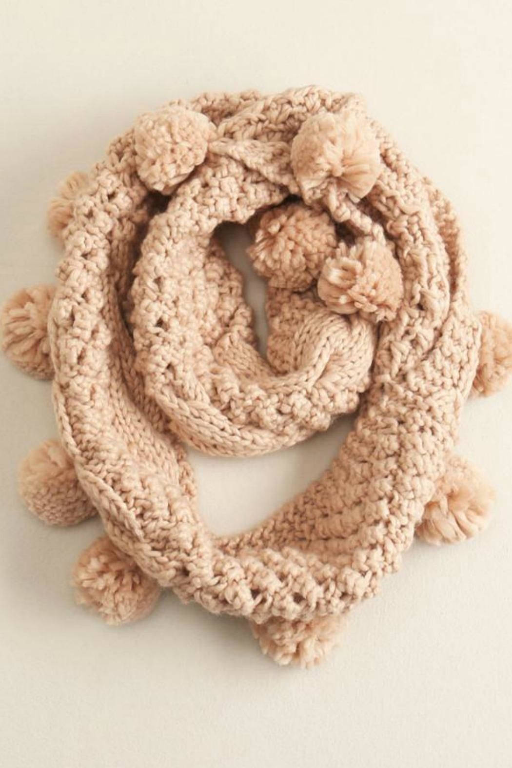 Look by M Pompom Infinity Scarf - Main Image