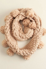 Look by M Pompom Infinity Scarf - Front cropped