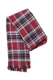 Look by M Red Plaid Scarf - Front cropped