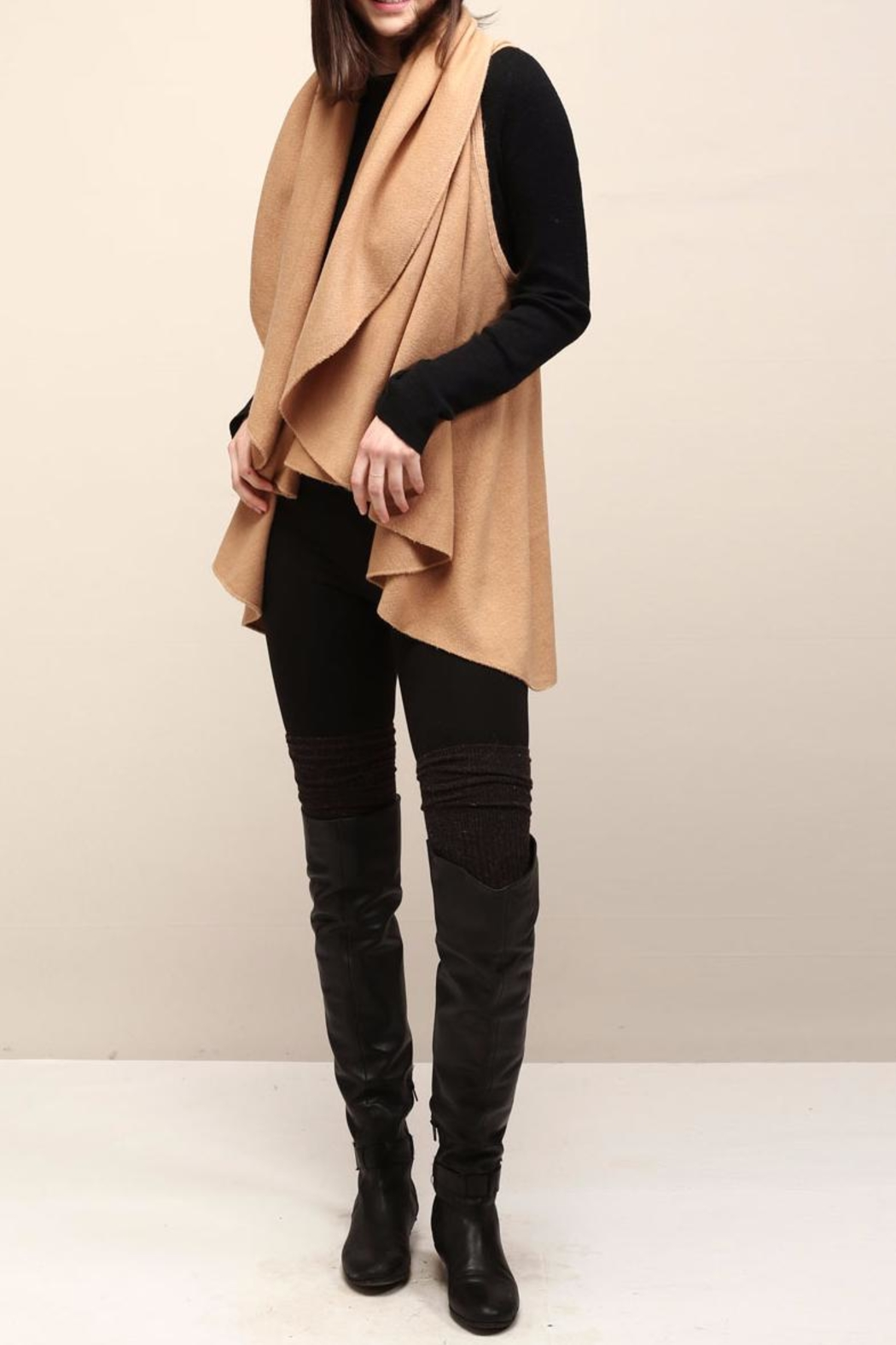 Look by M Selena Shawl Vest - Front Full Image