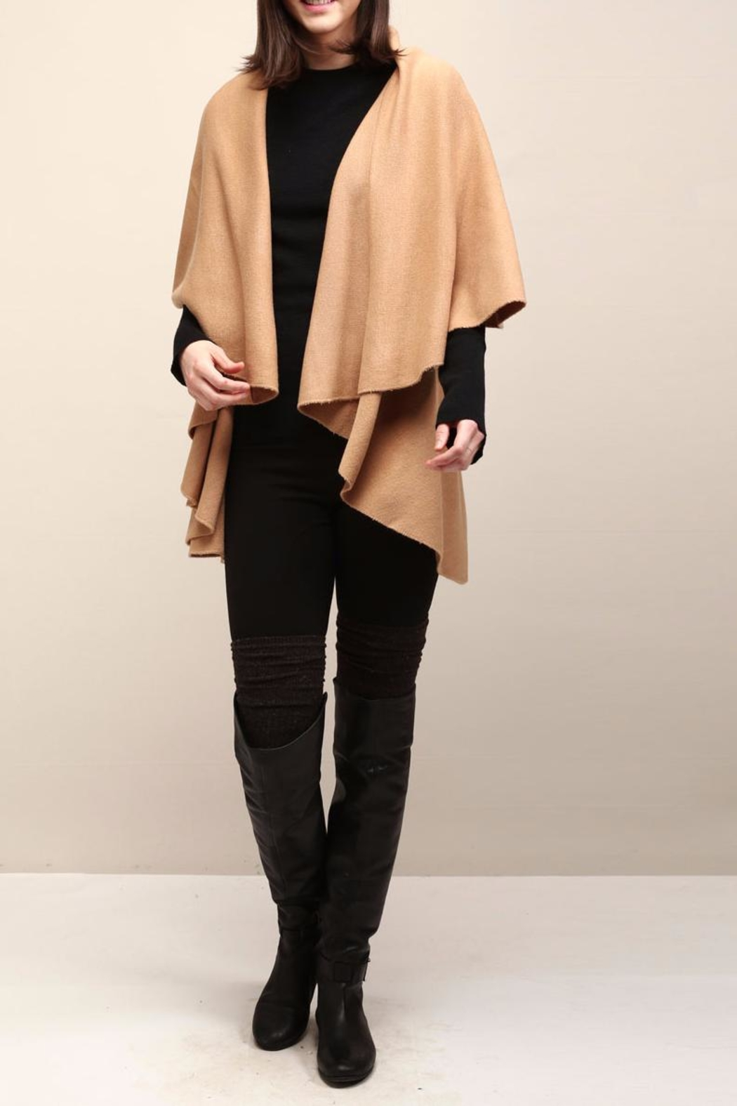 Look by M Selena Shawl Vest - Front Cropped Image