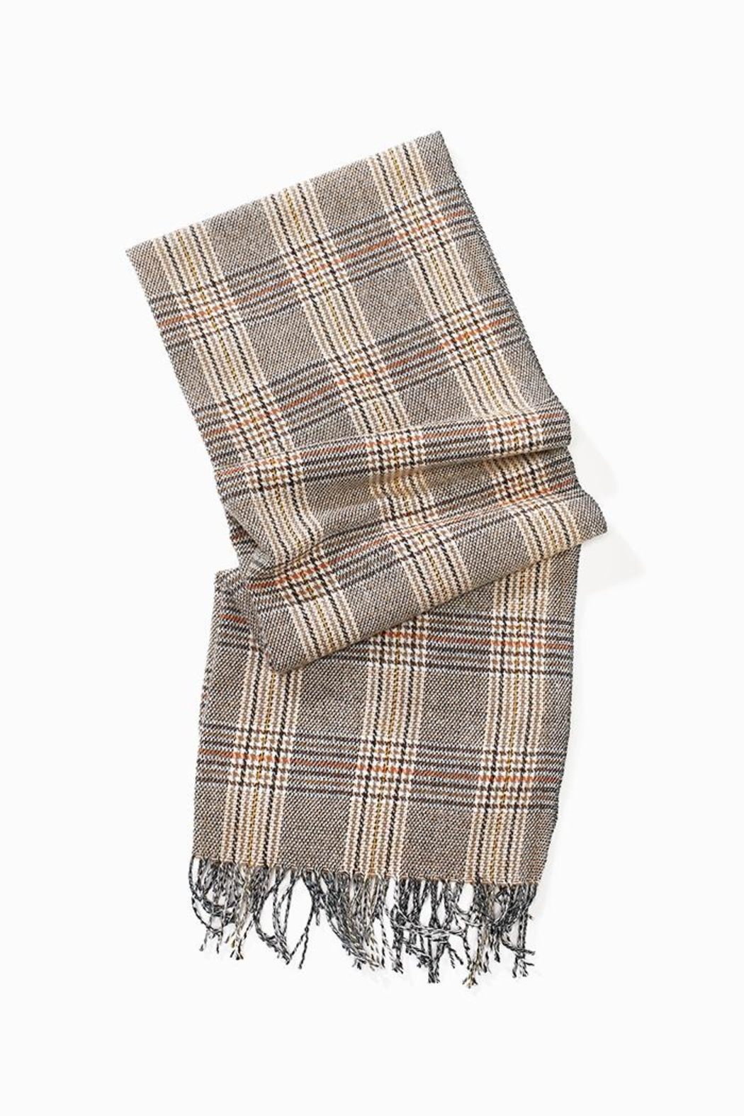 Look by M Soft Plaid Scarf - Front Cropped Image