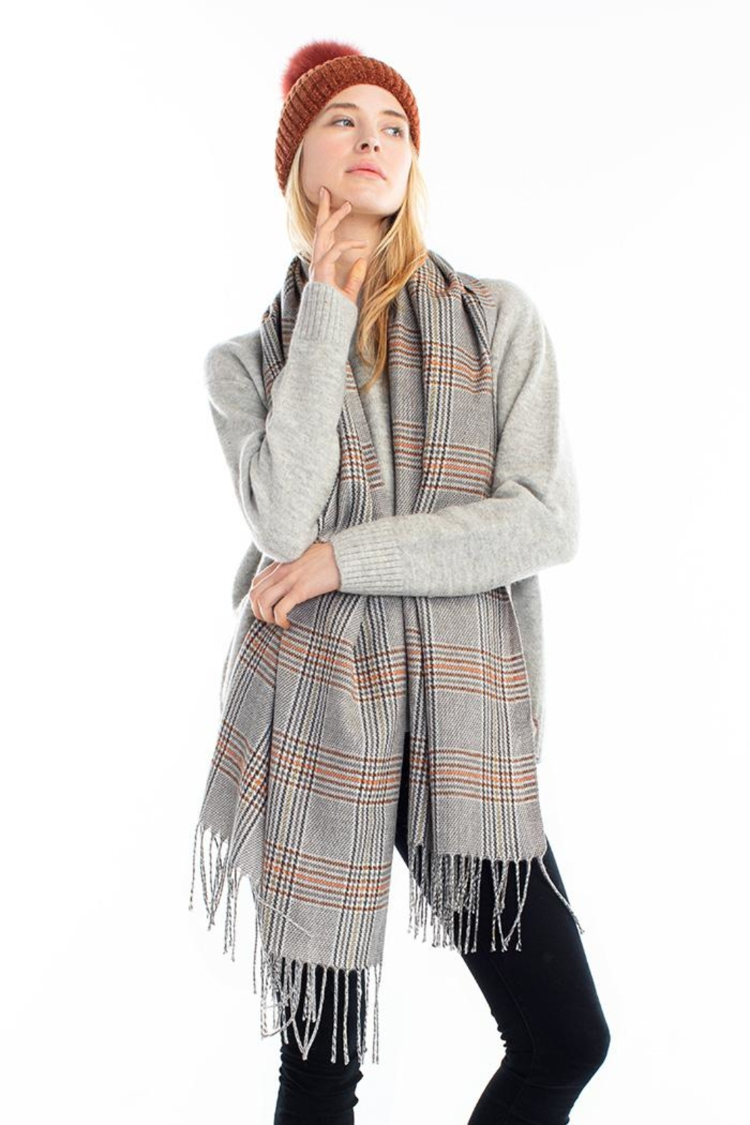 Look by M Soft Plaid Scarf - Main Image