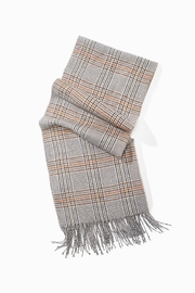 Look by M Soft Plaid Scarf - Front full body