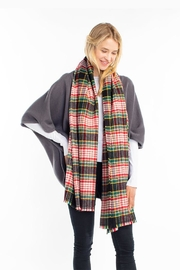 Look by M Soft Plaid Scarf - Front cropped