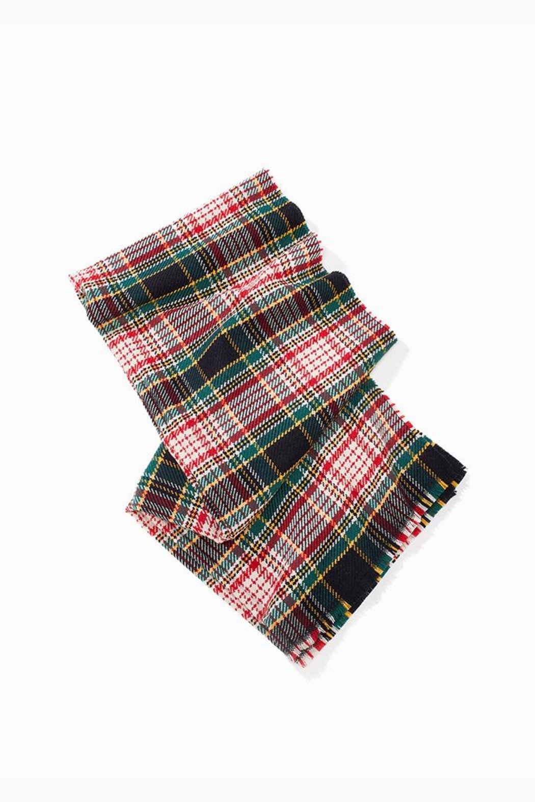 Look by M Soft Plaid Scarf - Front Full Image