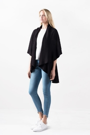 Look by M Solid Shawl Vest - Front full body