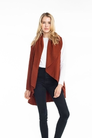 Look by M Solid Shawl Vest - Front cropped