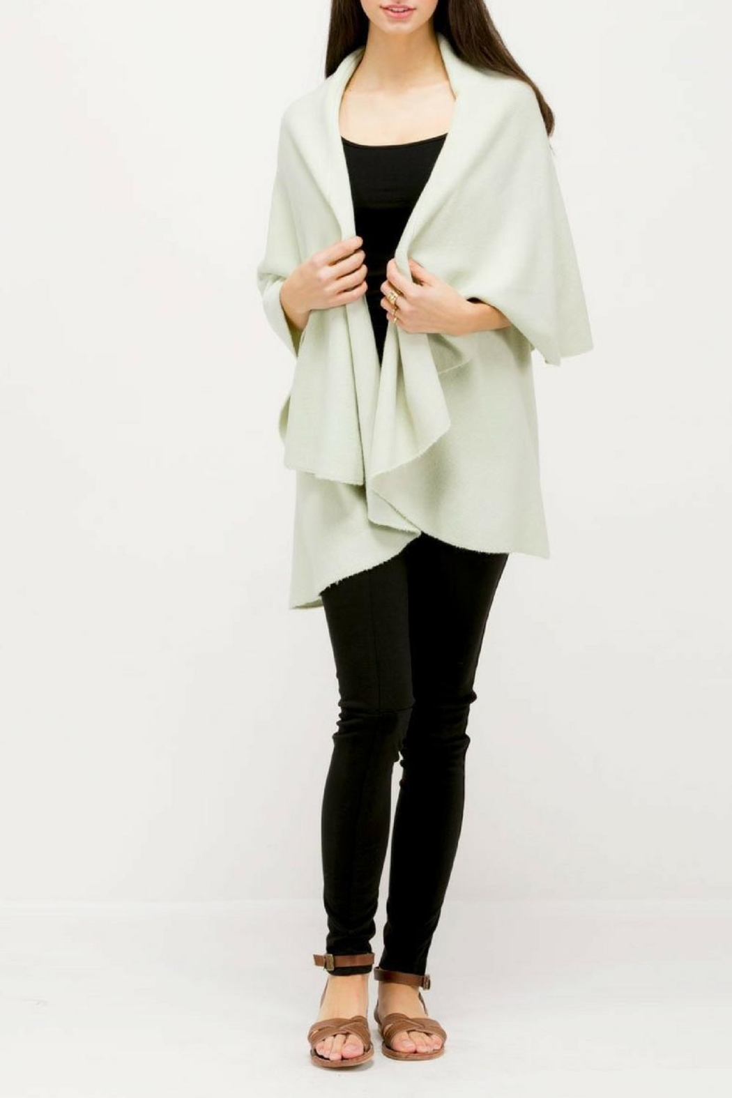 Look by M Versatile Shawl Vest - Front Cropped Image
