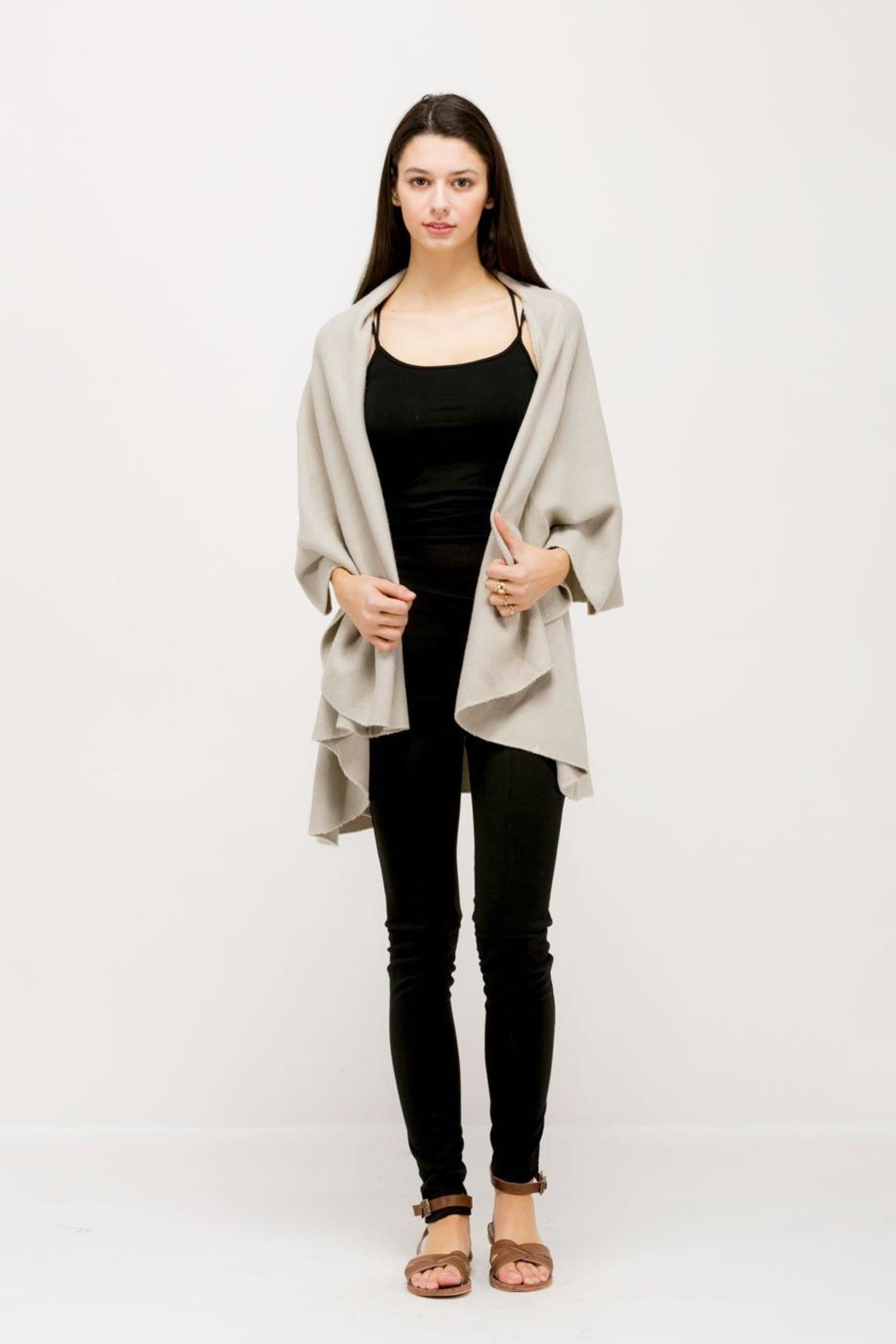 Look by M Versatile Shawl Vest - Side Cropped Image