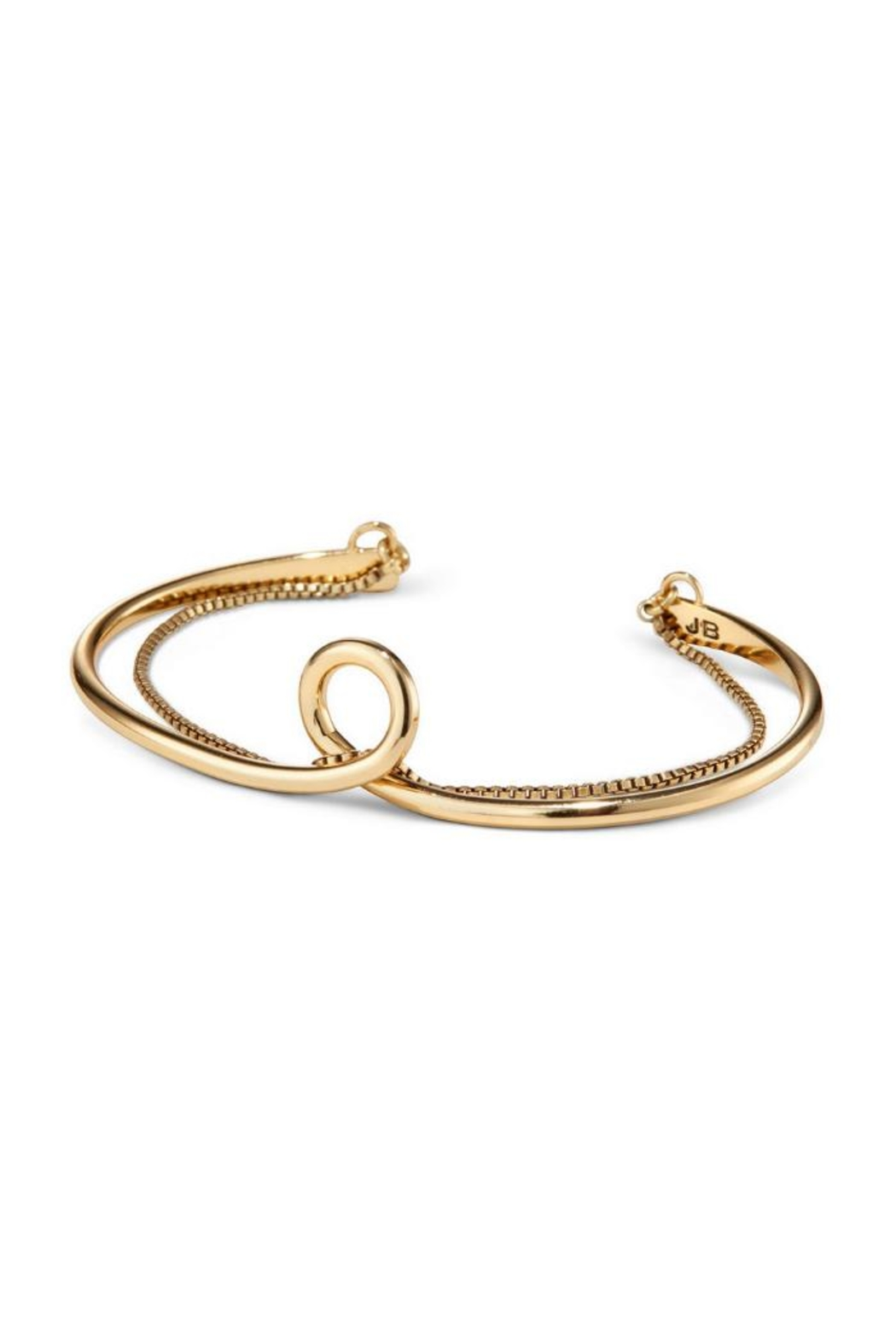 Jenny Bird Loop Cuff Gold - Front Cropped Image