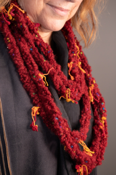 Handmade by CA artist Multi-Loop, Layered Crocheted Necklace-Scarf - Product List Image