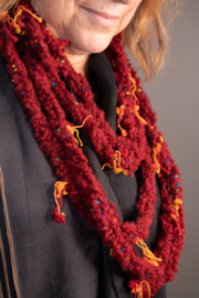 Handmade by CA artist Multi-Loop, Layered Crocheted Necklace-Scarf - Product Mini Image