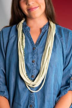Handmade by CA artist Loop-di-Loop T-Shirt and Bead Necklace - Product List Image