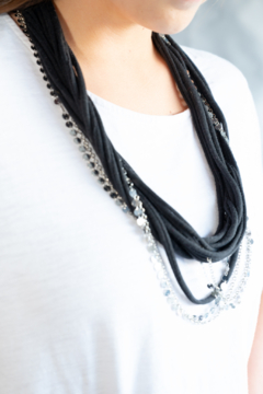 Handmade by CA artist Loop-di-Loop T-Shirt Necklace and Chains - Alternate List Image