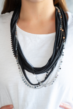 Handmade by CA artist Loop-di-Loop T-Shirt Necklace and Chains - Product List Image