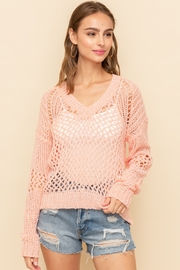 Hem and Thread Loose Cable Pullover - Product Mini Image