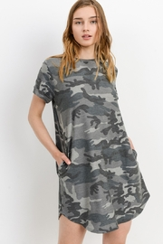 Cherish  Loose Fit Camo Dress w Side Pockets - Front cropped