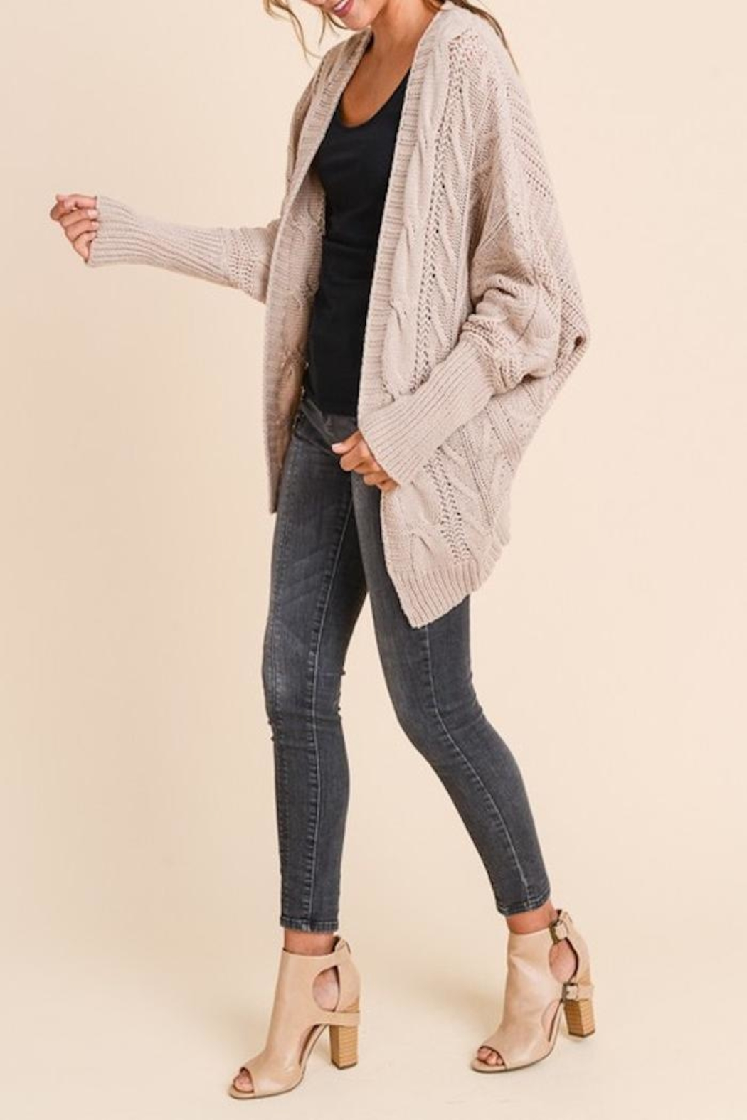 Apricot Lane Loose Fit Cardi - Front Full Image