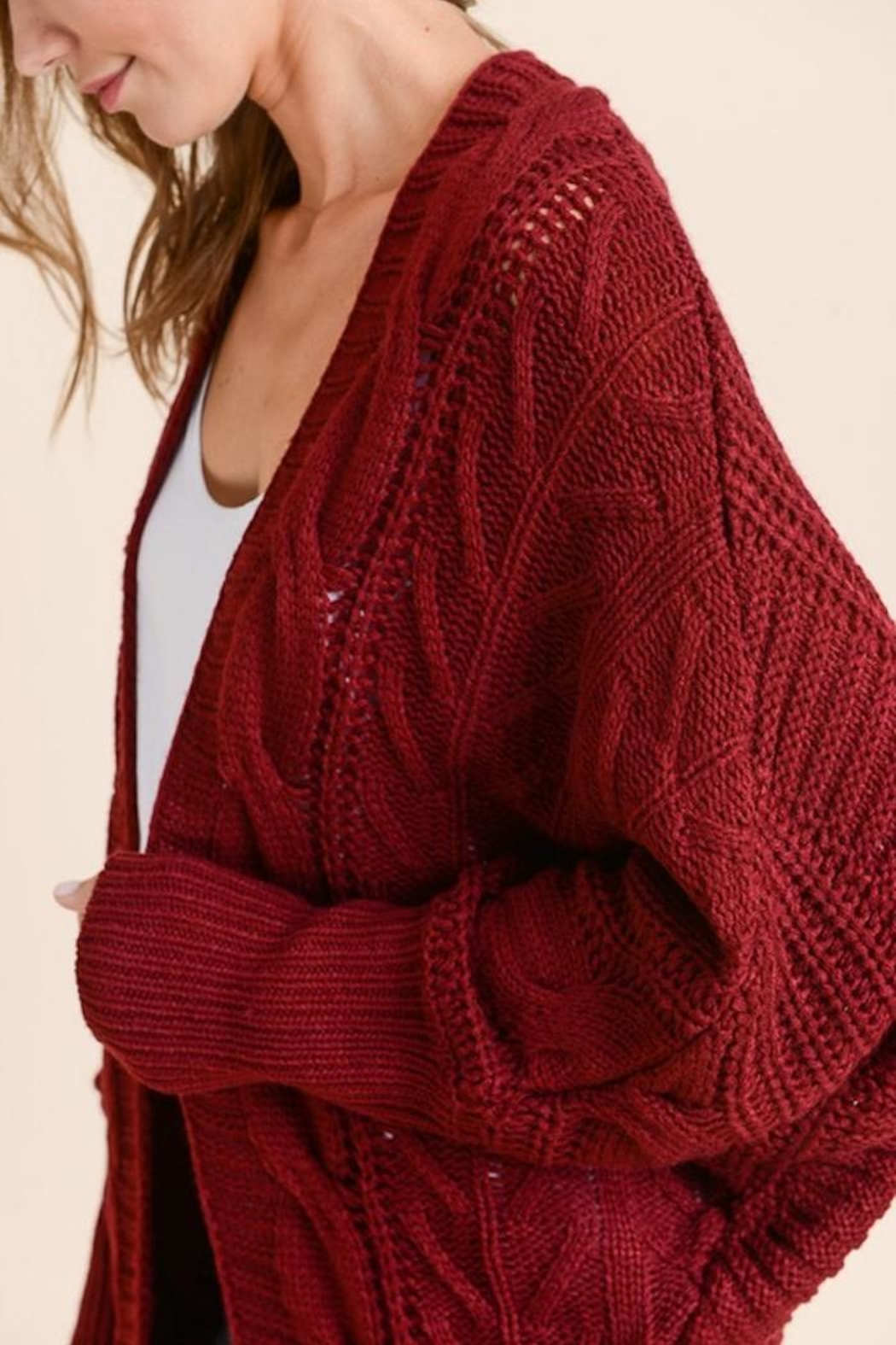 Apricot Lane Loose Fit Cardi - Side Cropped Image