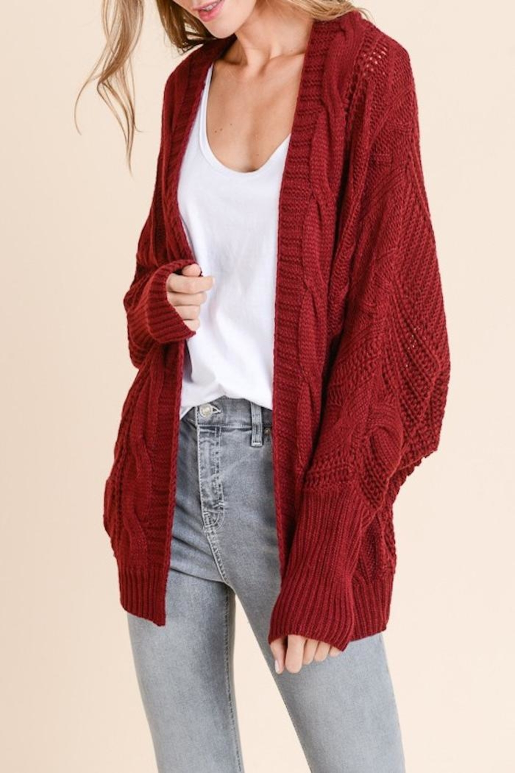 Apricot Lane Loose Fit Cardi - Front Cropped Image