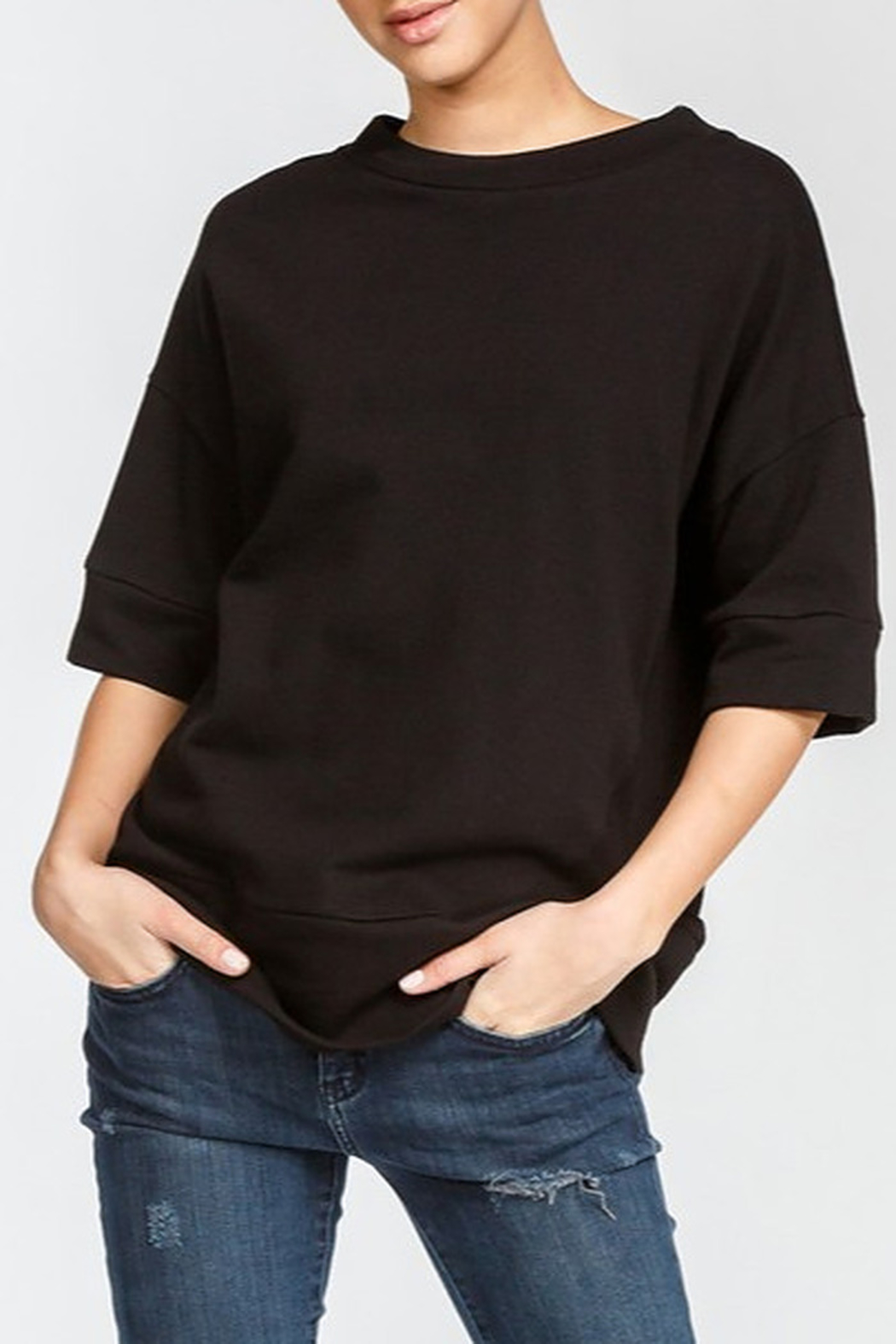 Cherish Loose Fit Short Sleeve Sweatshirt - Main Image