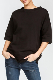 Cherish Loose Fit Short Sleeve Sweatshirt - Front cropped