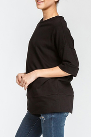 Cherish Loose Fit Short Sleeve Sweatshirt - Front full body
